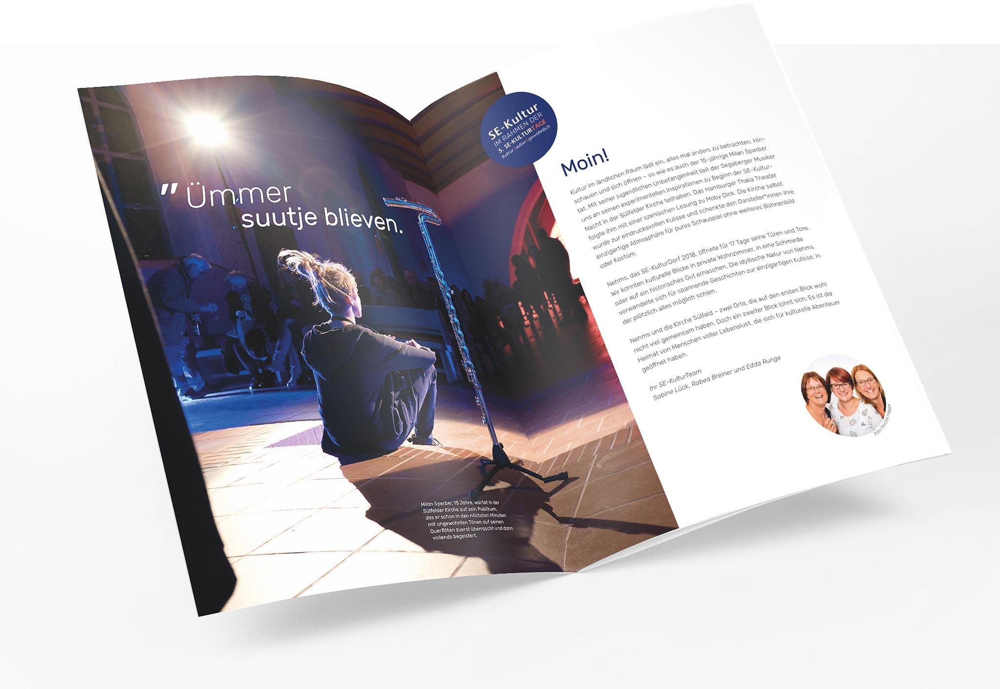 Fotografie, Editorial Design, Bildbearbeitung, Kultur, Kunst, Imagebroschüre, Segeberg