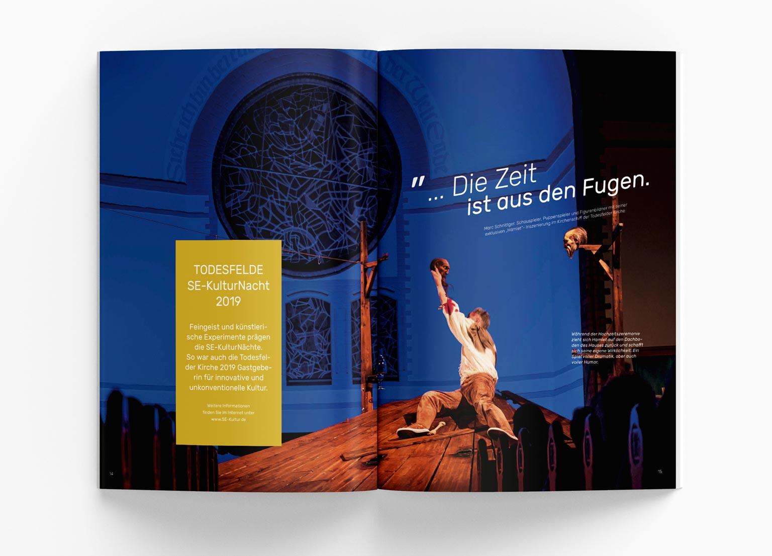Editorial Design, Bildbearbeitung, Kultur, Kunst, Imagebroschüre, Grafik Design