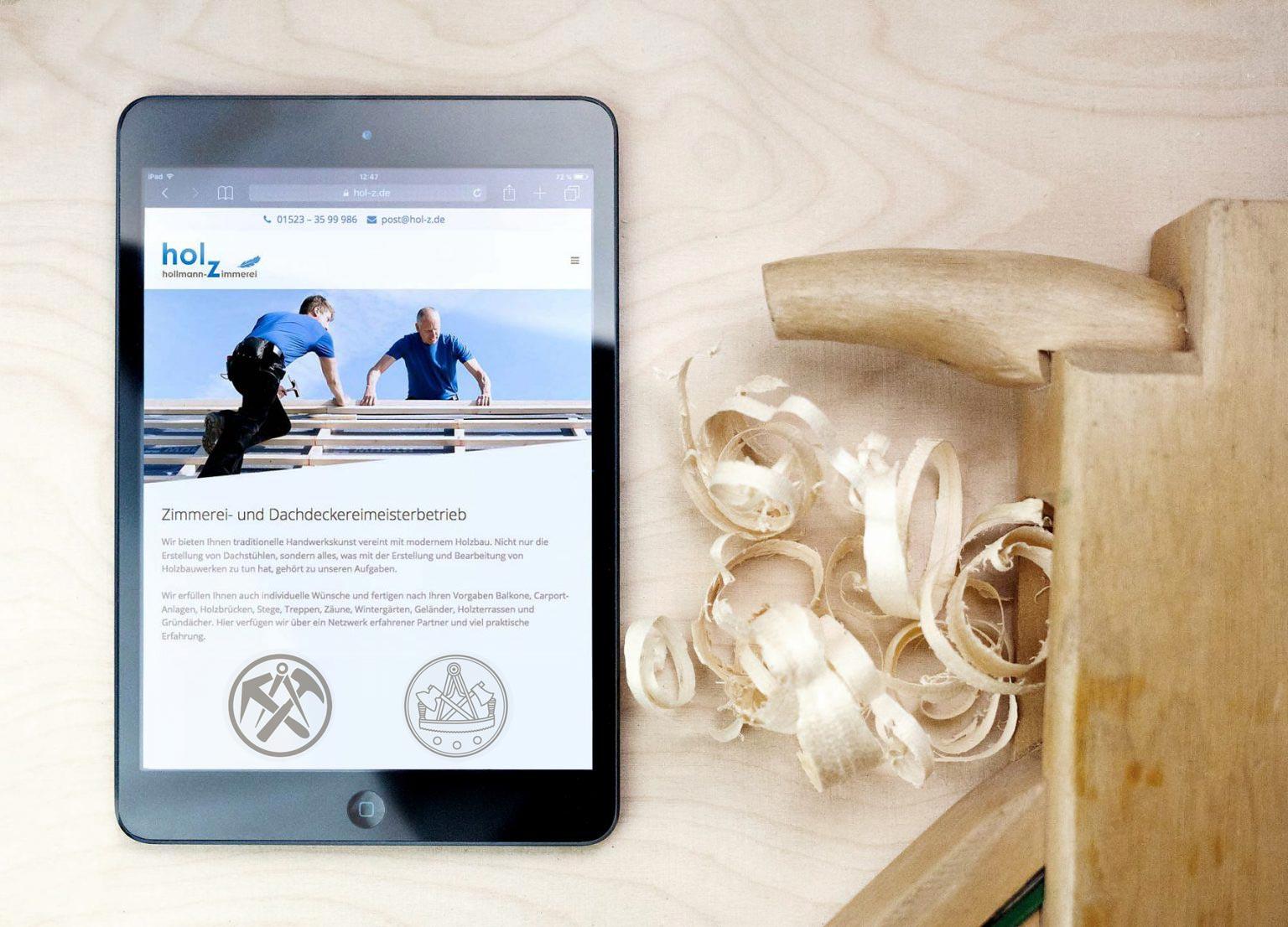 Webdesign, responsiv, mobile, first, Dachdeckerei, Zimmerei, Segeberg